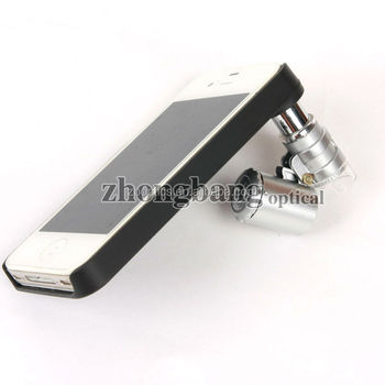lenses for iphone 60x zoom led clip on mini pocket microscope magnifier lens 9882