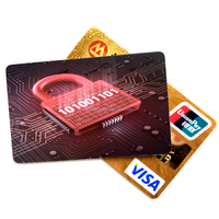 Custom Branding RFID NFC Blocking Card, Contactless Credit Debit Card Protector for Wallet or Purse