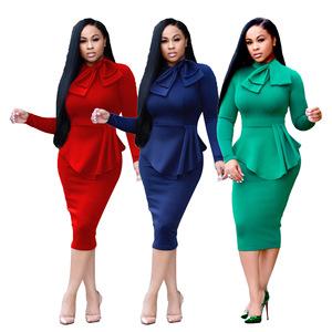 Ladies designer african women formal office dresses
