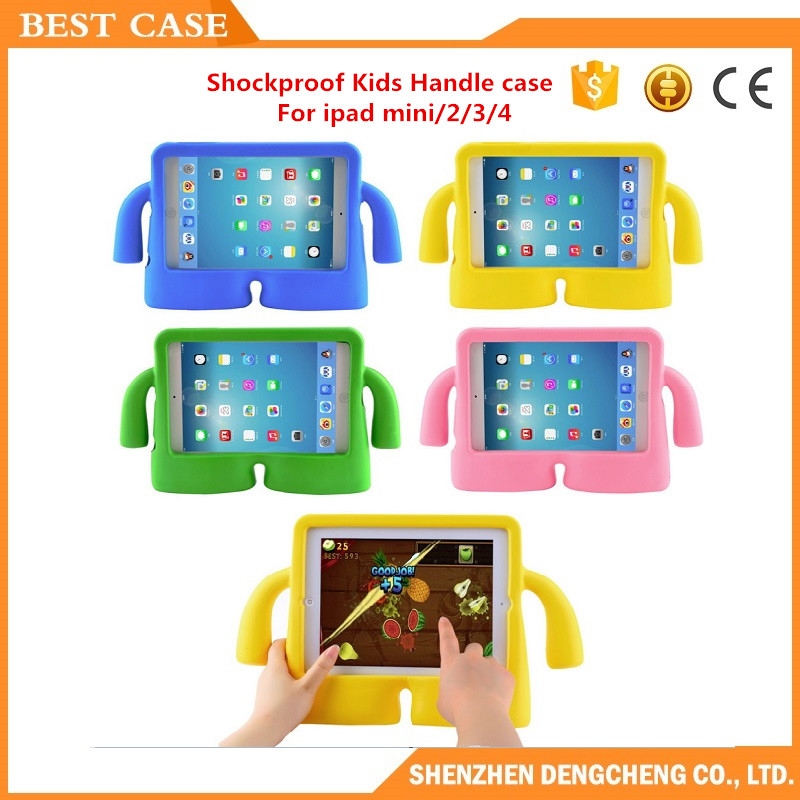 Hot sales Shockproof Kids Handle Case For iPad mini 2/3/4 Silicone Case