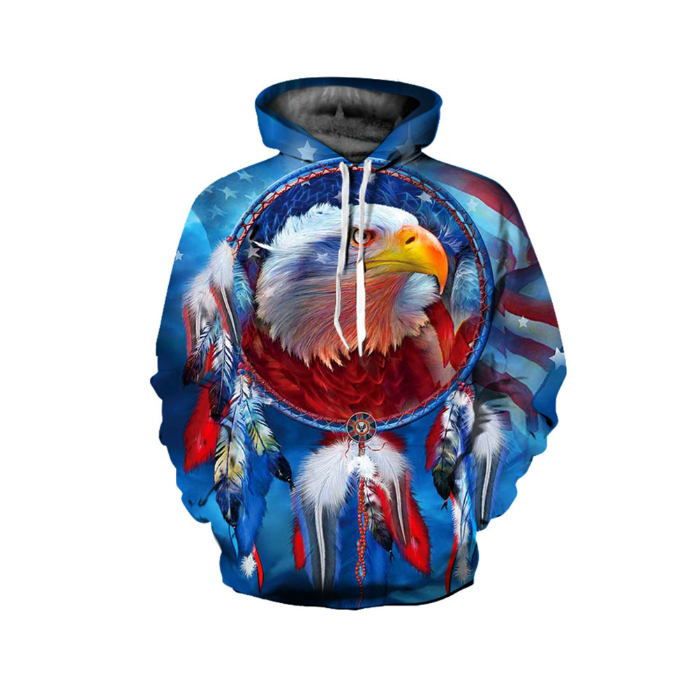 Sublimation Unisex Beste Qualität Sweatshirt Retro Round Fan Print Sweatshirt