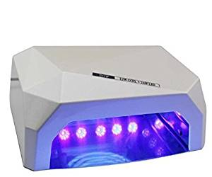 RioRand 36W Nail Dryer Professional Diamond Shaped CCFL & LED UV Nail Lamp (UV & LED 2 in 1 Nail Gel Lamp) Curing Nail Dryer for LED UV Gel Nail Polish nail tools - White
