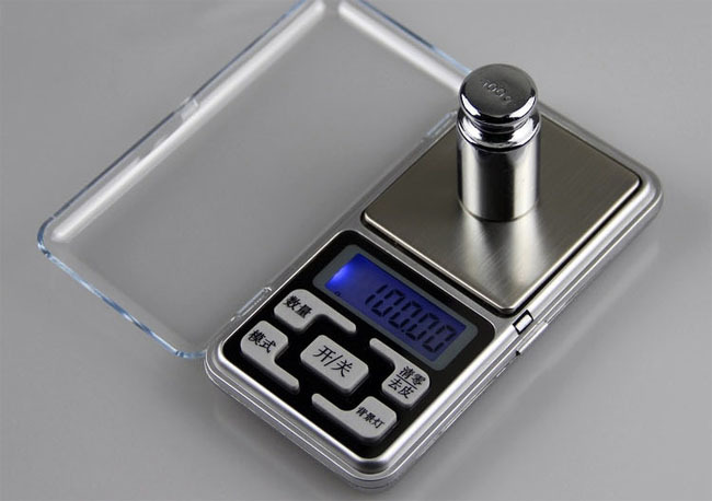 Electronic Kitchen Scale 500g x 0.1g Portable Mini Electronic Digital Scale Hanging ...