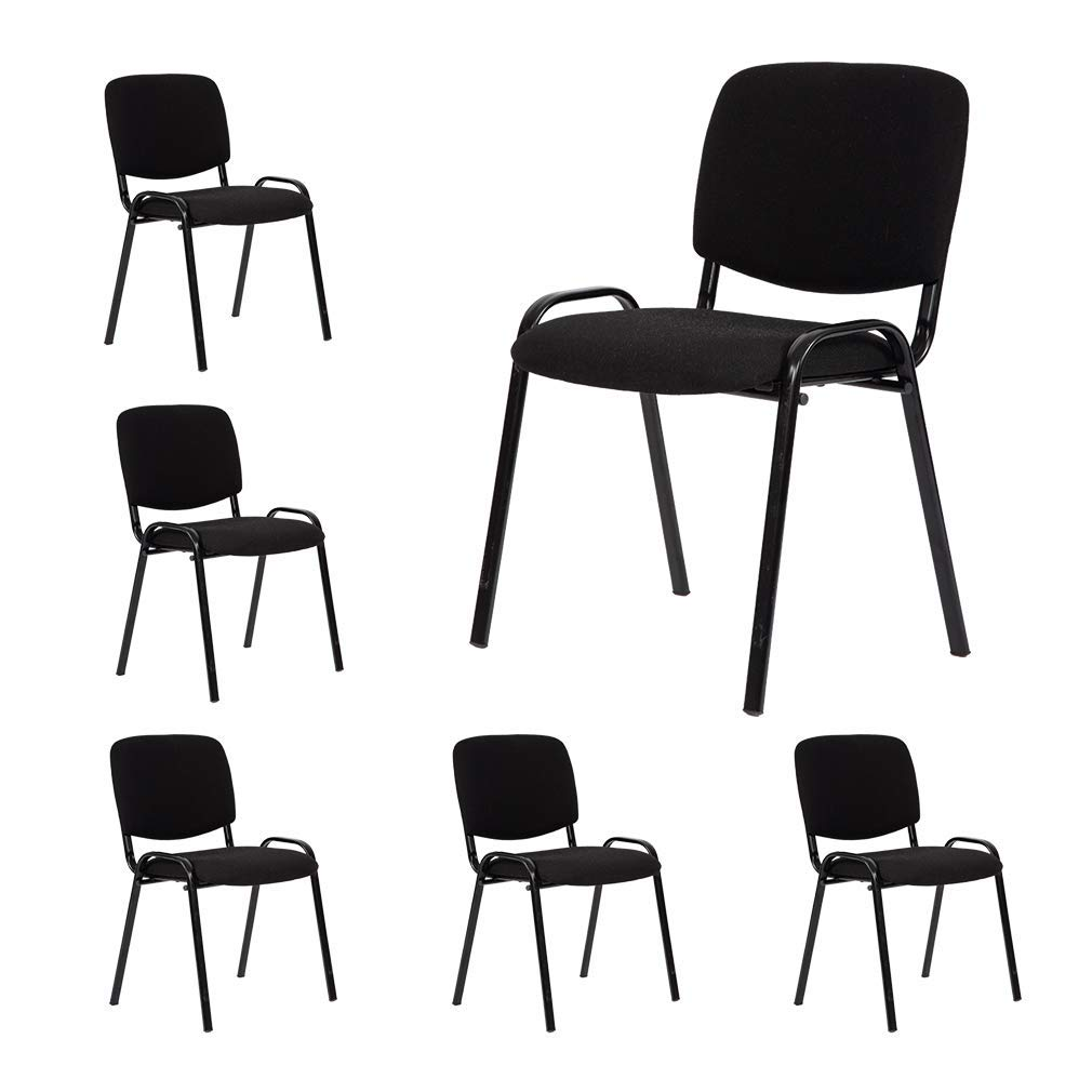 Guest Chair Reception Chairs Conference Chairs Stack Meeting Chair Executive Side Chair with Lumbar Support and Cushion Seat for Home Office Waiting Room