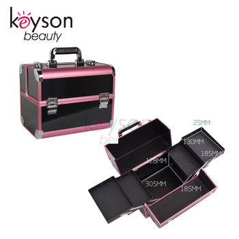 Keyson Aluminum Carrying Case Beauty Cosmetic Case Makeup Tool Box
