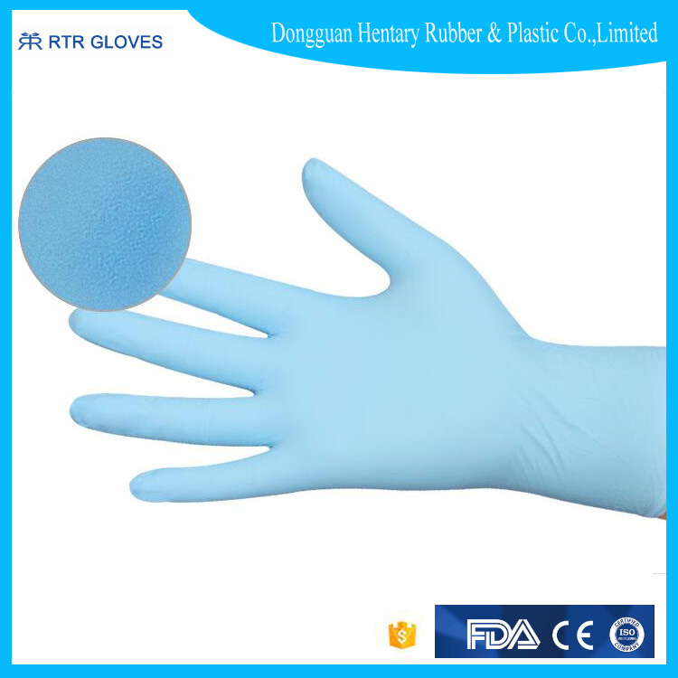 CE,FDA Certificates proved esd conductive nitrile gloves for medical