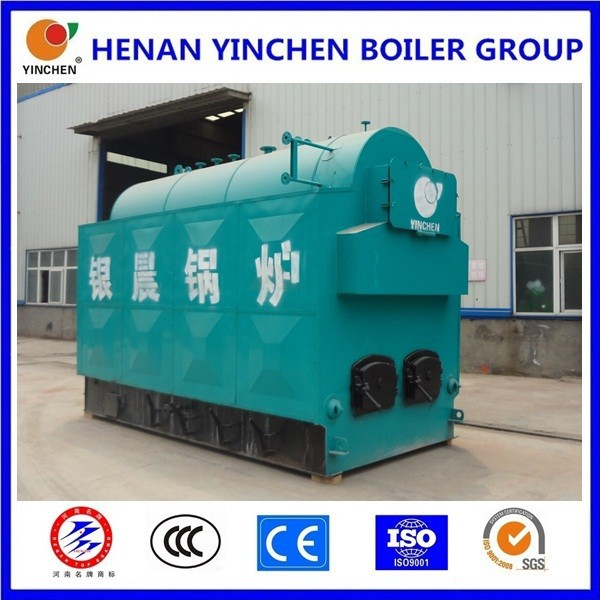 3 pass coal or biomass fuel horizontal hand fired smoke tube solid fuel boiler heating system for greenhouse