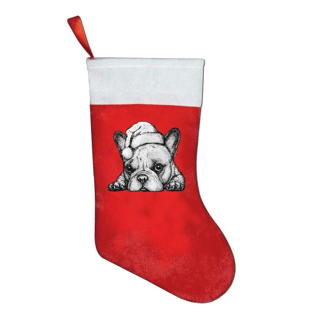 get quotations french bulldog engrave christmas hat christmas hanging stockingassorted santa gift socks hanging accessories for