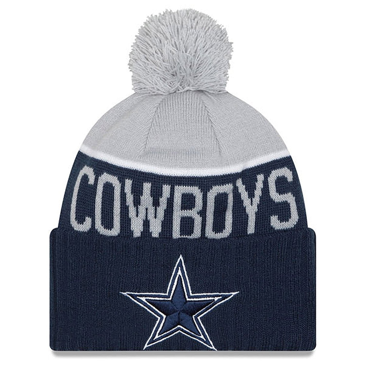 447eb84e0 Get Quotations · Men's Dallas Cowboys NFL New Era On Field Sport Knit Hat
