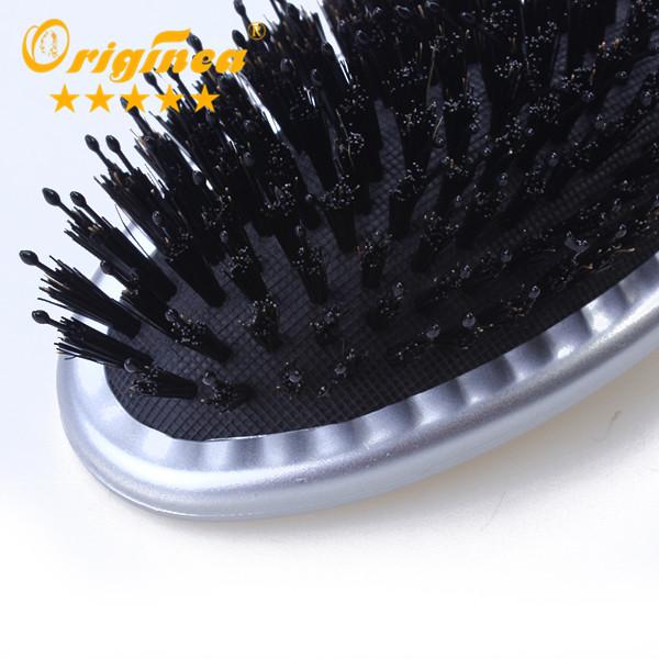Detangle saç fırçası Salon kuaförlük profesyonel masaj yastık fırçası domuzu kıl naylon saç fırçası