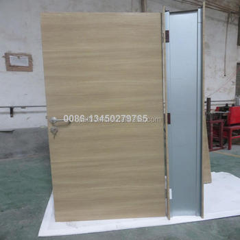 2 Hrs Emergency Exit Fire Doortempered Glass Insert Fire Rated Door
