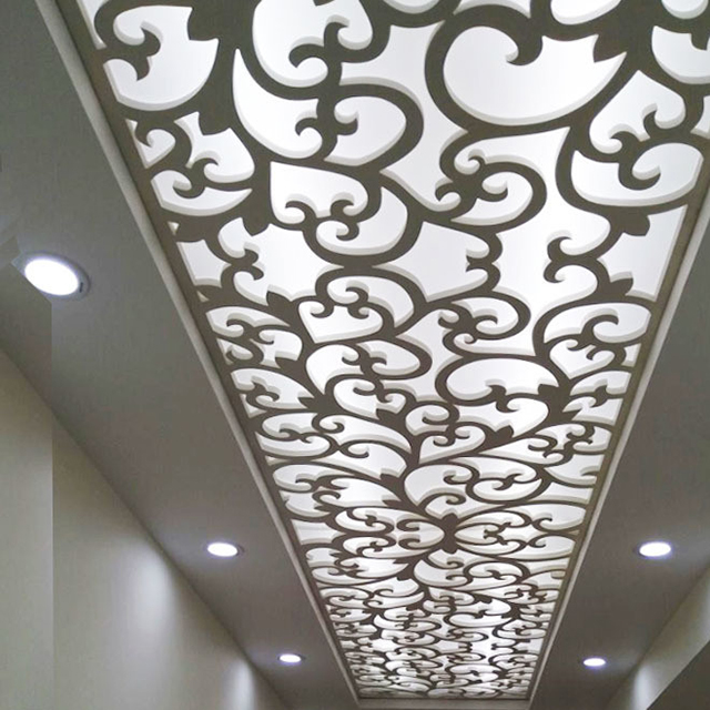 Decorative ceiling grille pvc board <strong>screen</strong>