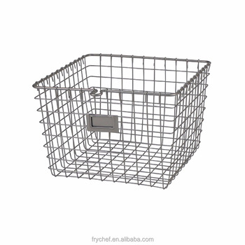 Kitchen Vegetable Storage Wire Basket With Tow Handles - Buy Storage  Basket,Hanging Storage Wire Baskets,Kitchen Vegetable Storage Baskets  Product on ...