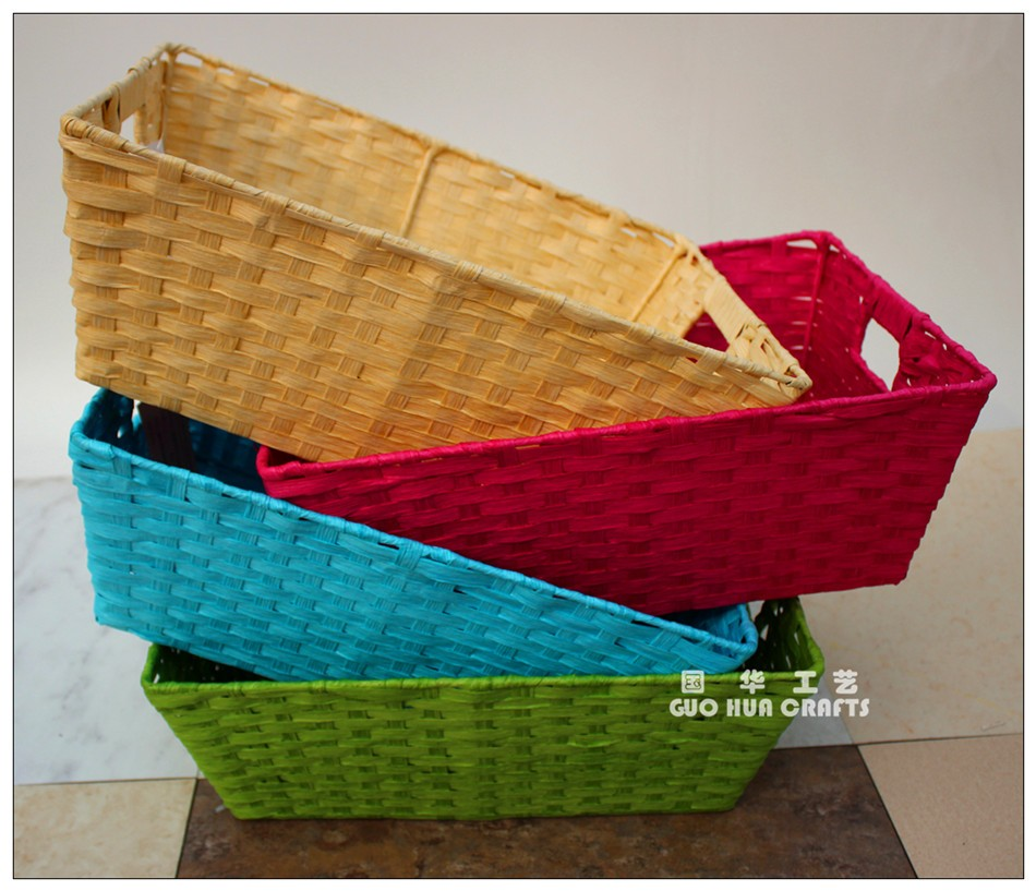 Handmade Basket Paper : White basket made of paper rope buy