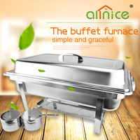 Wholesale hotel stainless steel chafing dish buffer food warm with folding legs