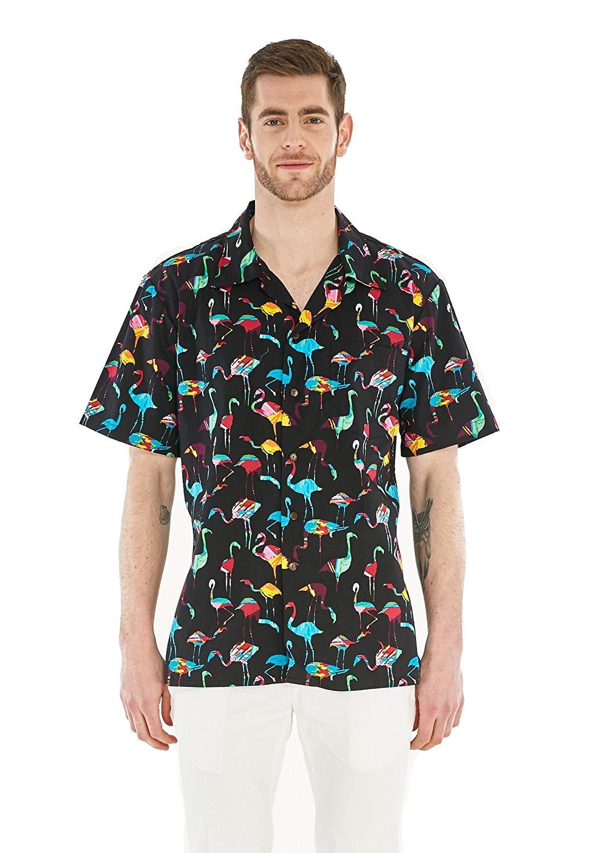 78f640934 Get Quotations · Hawaii Hangover Men's Hawaiian Shirt Aloha Shirt Vintage  Tropical Toile