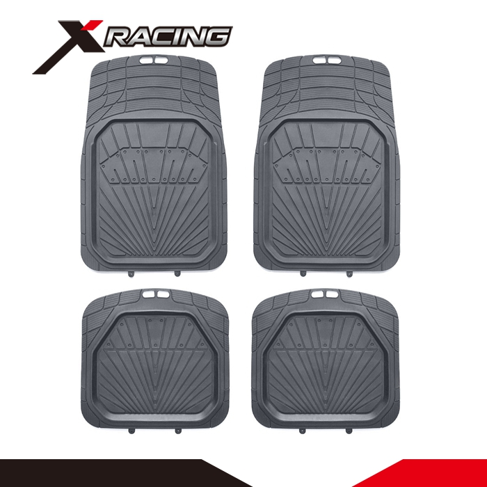 XRACING IAFM-005G Professional QC team printed car mat set stock rubber car mat