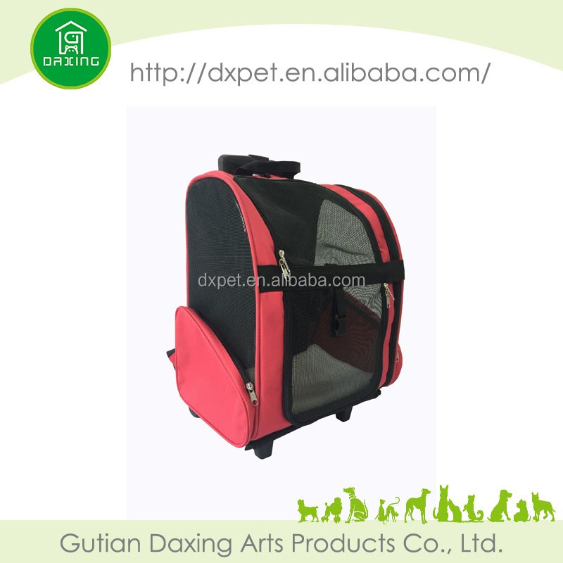 Multi functional backpack pet carrier with wheels