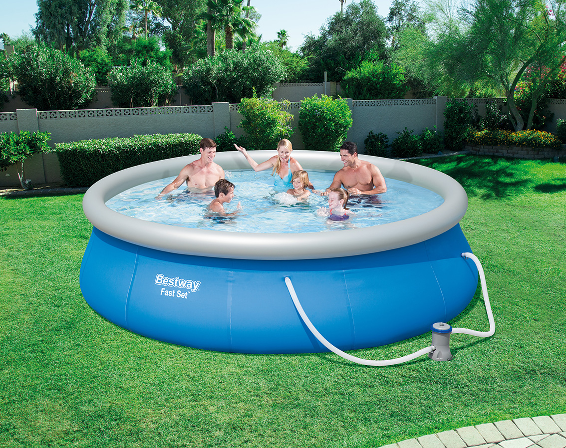 New High Quality Bestway 57321 Inflatable Quick Up Portable Swimming Pool  Fast Set Pool Set With Filter Pump - Buy Inflatable Swimming Pool,High