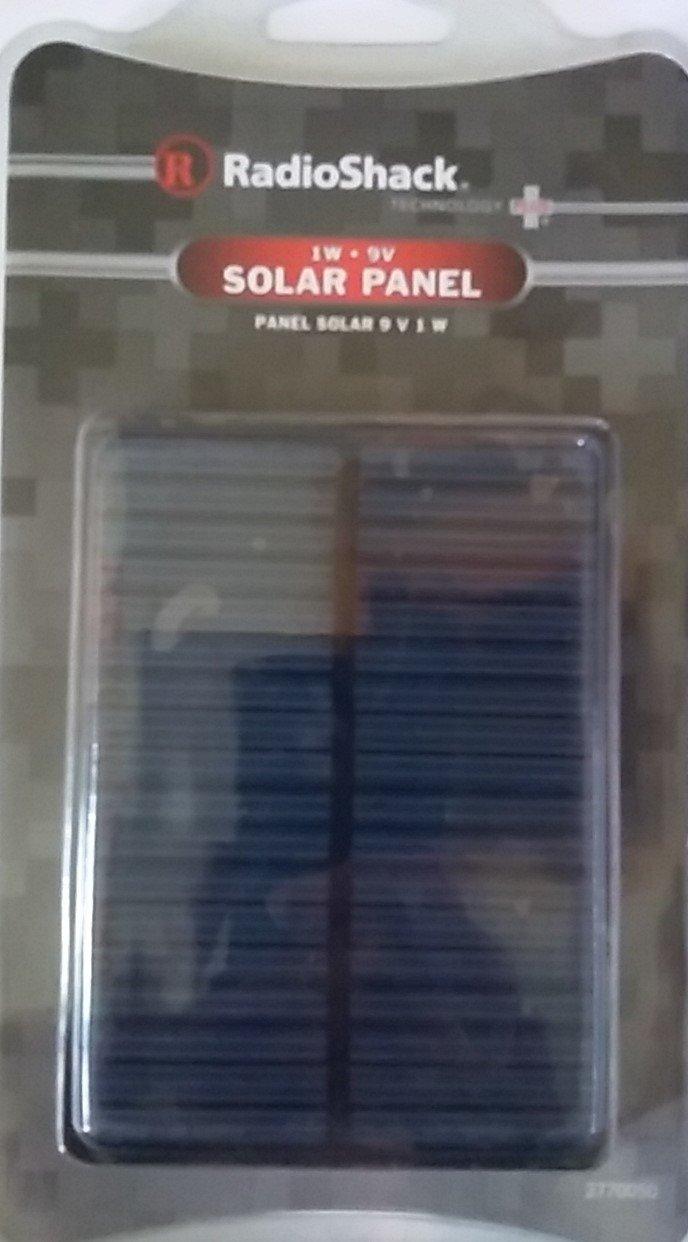 "RadioShack 1W Watt Solar Panel 9V 4.33"" x 3.15"" x 0.125"" with 20cm Output Cable 2770050 DIY For Mini Solar Panel Module Solar Power System Solar Cell Battery Charger"