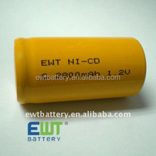EWT professional Nicad nicd c 2800 2500mah rechargeable battery 1.2v ni cd battery