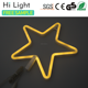 LED Neon Light Plastic Star Shaped Wall Decorate