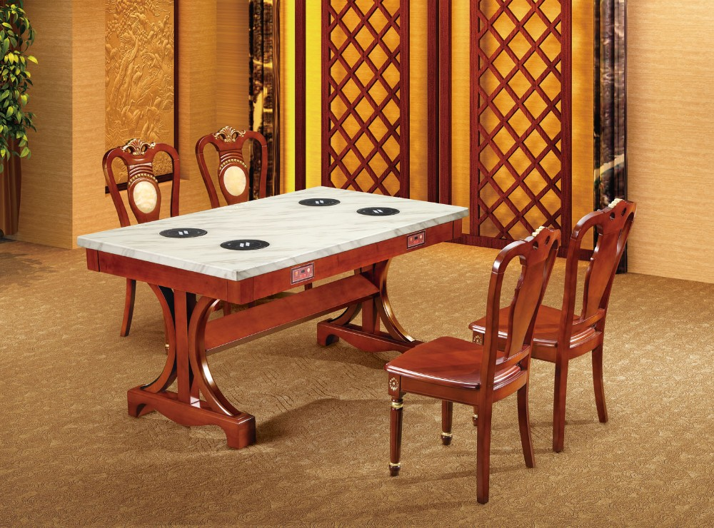 High quality solid wood oak square dining table furniture for High quality dining room furniture