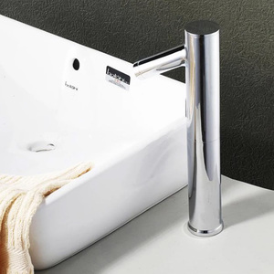 Fapully High Quality Bathroom Automatic Induction Faucet Basin Automatic Shut Off Faucet