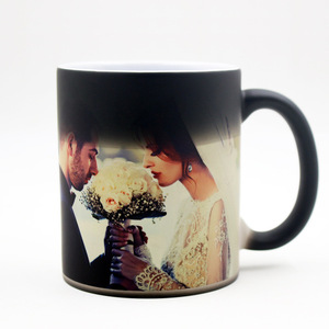 Sublimation ceramic magic photo change color mug for gifts