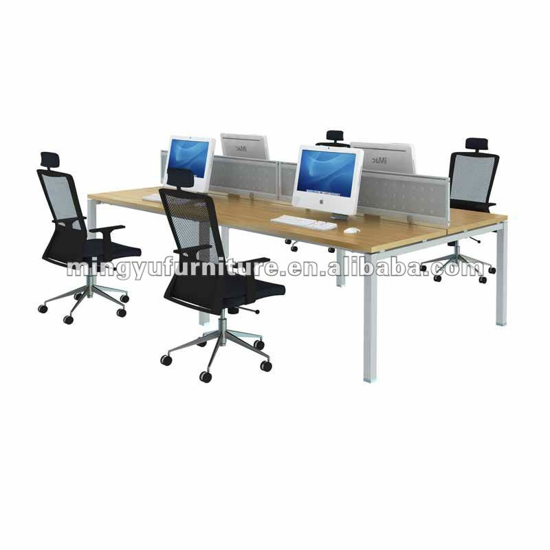 Stainless steel wood desktop modular workstation
