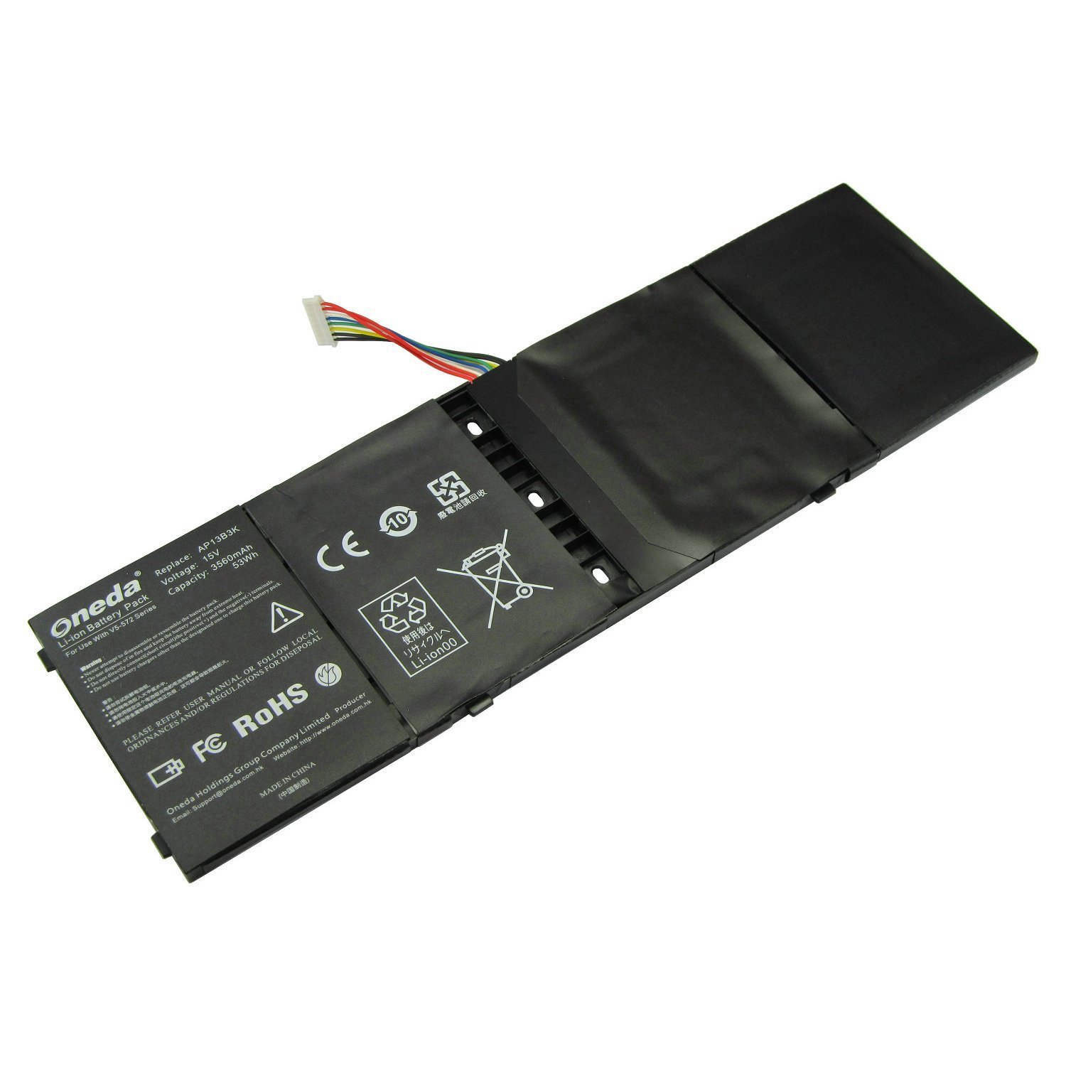 Oneda New Laptop Battery for Acer Aspire M5-583P V5-572P V5-572G ZQK ZQI ZQY ZRl ZRQ Series; Fits P/N: AP13B3K AL13B3K AP13B8K KT.00403.015 KT00403015 Replacement batteries Pack [4-cell /3560mAh/53Wh]