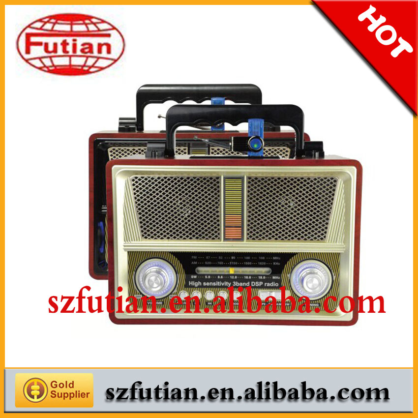 Portable Retro FM radio Music Player with LED light and recording function