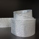 Silvery Wired Crafting Ribbon Silver Glitter Nylon Ribbon Roll