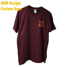 Custom High quality 100% cotton Logo Print custom dimension Label design Maroon Short sleeve Women T Shirt for Adult