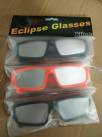 Fastest shippment plastic solar eclipse glasses ,customer logo designated printing and packing