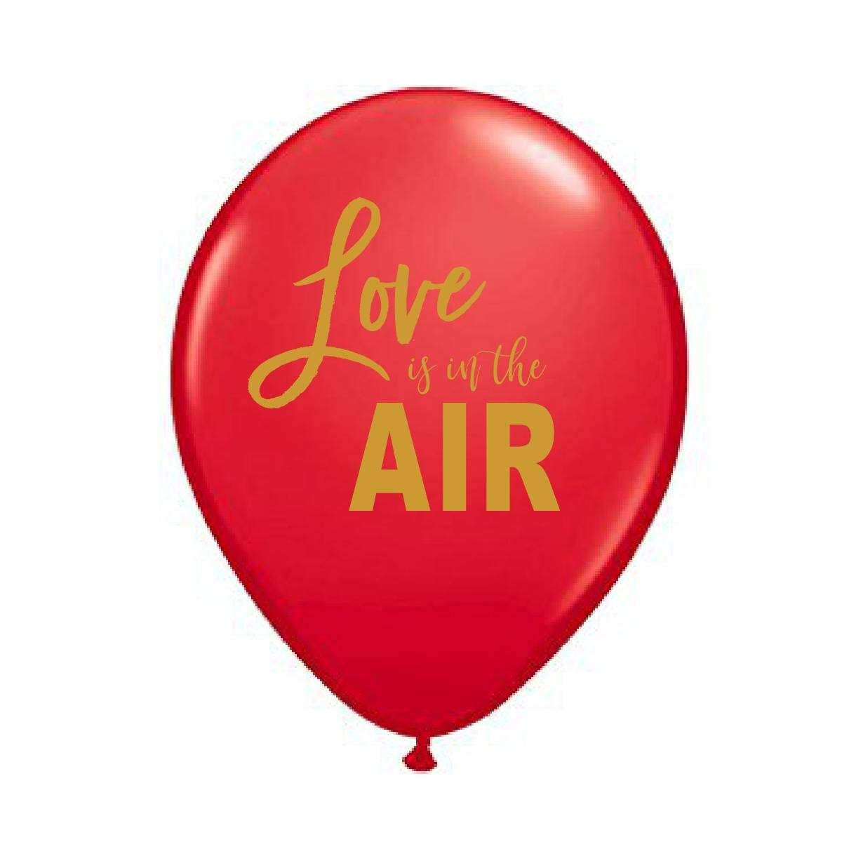 Red Love is in the Air Balloons, Love is in the Air Balloons, Love is in the Air, Engagement Party Decoration, Bridal Shower Decoration, Valentine's Day Balloons, (Set of 3)