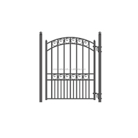 decorative wrought iron single door metal garden and home gate steel small gate for sale