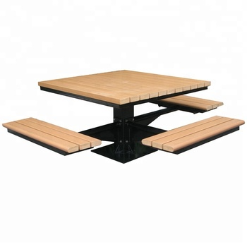 En Gros En Fer Forgé Et En Bois Recyclé Ensemble Table Et Chaises De Jardin  - Buy Table De Jardin,Table De Jardin Et Chaises,Ensemble De Table De ...