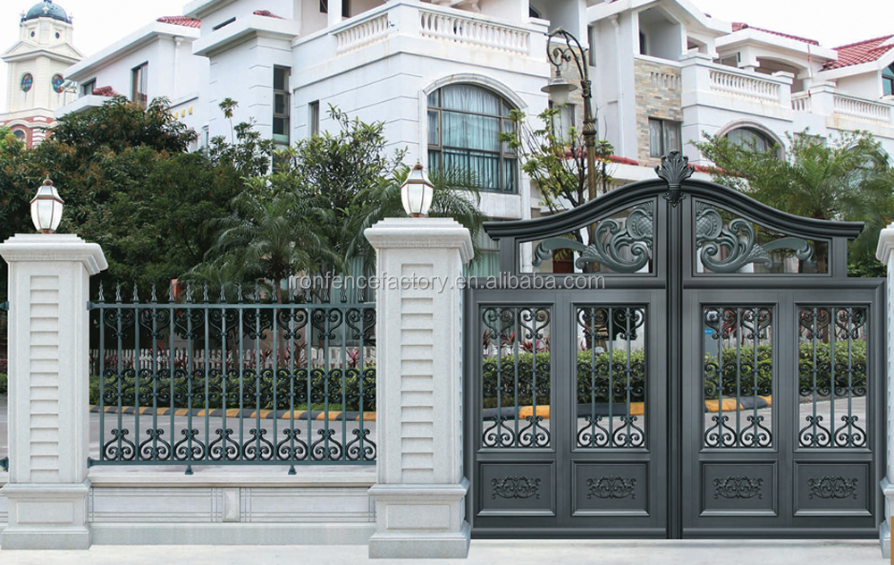 2016 Latest Products Aluminum Main Gate Design/metal Sliding Gate ...