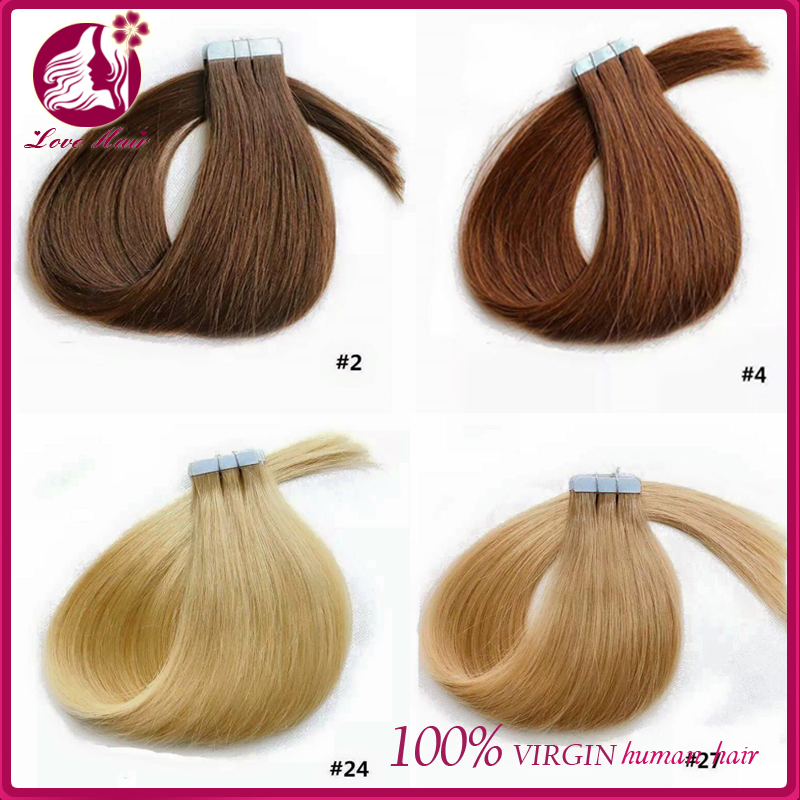 Factory price zero profit sales human hair tape in hair extentions 100% human hair skin weft