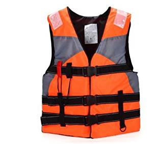 Bump-upscale adult swimming life jackets drift snorkeling buoyancy vest fishing clothing and whistles , orange