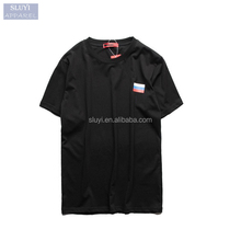 t-shirt men Women High Quality sluyi brand t-shirt custom print Hip hop pure black white 100% pima cotton blank t-shirt men