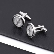 High quality oval shape cufflinks in hot sale
