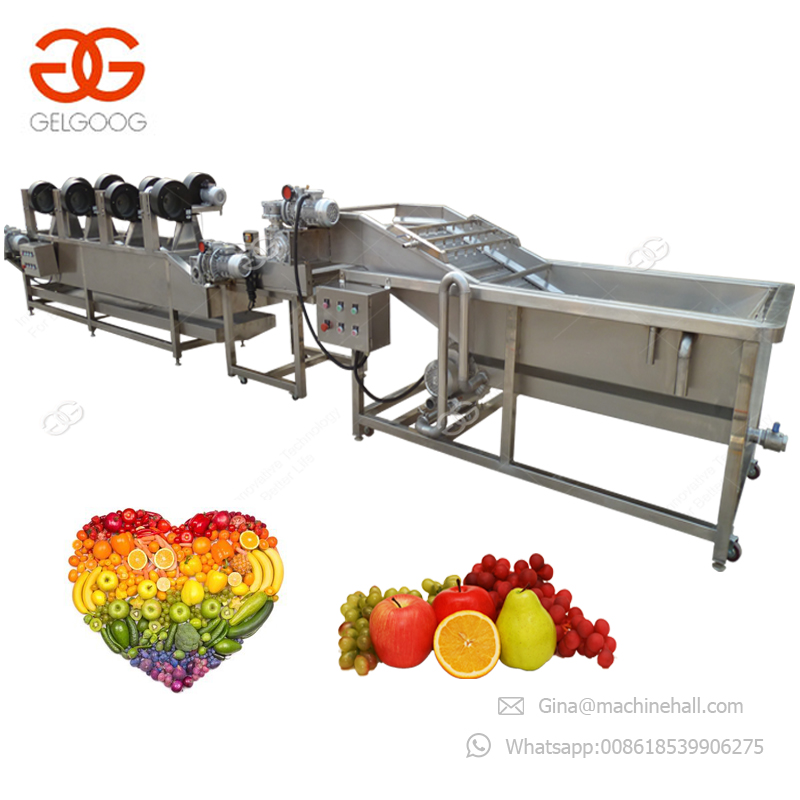 Widely Used Fruit Apple Peach Carrot Radish Potato Process Drying Cleaning Equipment Vegetable Washing Machine