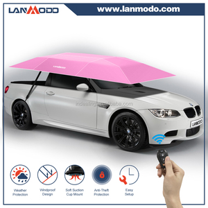 Patent holder Lanmodo retractable folding car awing outdoor car parking awning