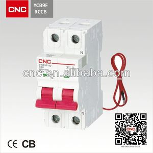 Latest Design YCB9F-80 residual current circuit breaker(rccb).National Project Supplier.China Top 500 enterprise