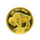 Manufacture silver coins 1 Gram 999 Fine Silver Gold Plated Buffalo Indian Round coin