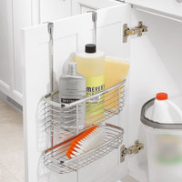 Kitchen Over The Cabinet Storage Organizer Basket Caddy For Aluminum Foil, Sandwich Bags