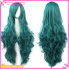 2017 New Products Green Long Curly Cosplay Costome Party Wig