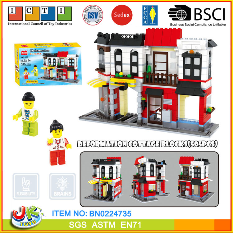 [JK TOYS] Ingenious building block villa model 505 PCS+
